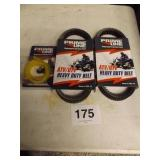 2 ATV BELTS & 1 FUEL LINE