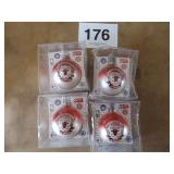 4 CHICAGO BULLS NBA 6X CHAMPIONS ORNAMENTS