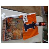 U OF I BOTTLE, FLAG, & 2009 CALENDAR