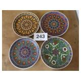 PAPERIS CERAMIC RHODES GREECE HAND MADE PLATES
