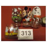 PEANUTS & MICKEY MOUSE GLASSES