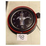 MUSTANG CLOCK, CLICK WORKS, LIGHT DOES NOT
