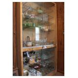 Large Light Colored China Cabinet