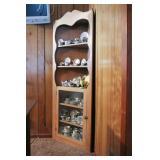 Vintage Light Maple Corner Cabinet