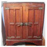 Antique Herrick Oak Ice Box