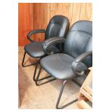 Two Nice Black Vinyl Office Chairs