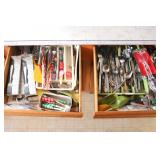 Contents of Utility and Silverware Drawer