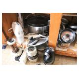 Group of Pans and Appliances