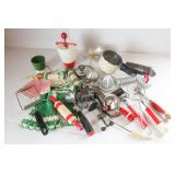 Vintage Red Handled Utensils and tools