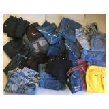 Large Group of Blue Jeans & Denim
