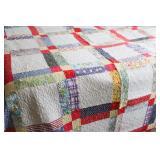 Vintage Machine Stitched Patchwork Quilt