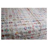 Vintage Machine Quilted 9 Patch Quilt