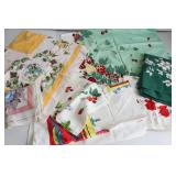 Group of Vintage Table Cloths