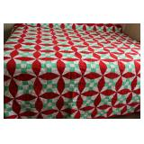Vintage Hand Quilted Polyester Quilt
