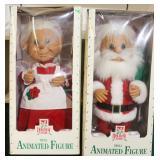"24"" Mr. and Mrs. Animated Troll Santa"