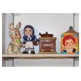 Homemade Ceramic Figures  & Cookie Jars