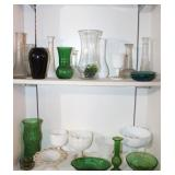 Large Group of Vases, Compote, and More