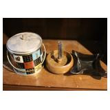 Vintage Ice Bucket, Nut Cracker, and Ashtray