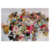 Group of Vintage Plush Huggers Clip On Animals