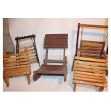 5 Pieces of Wooden Doll Furniture
