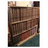 Wooden Book Shelf & Encyclopedias
