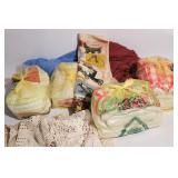 Large Group of Dollies and Linens