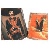Two Large Vintage  Mexican Paintings