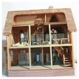 Great Victorian Doll House Full of Metal Furniture