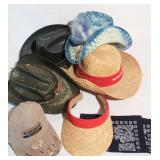 Group of Straw Hats and Visors