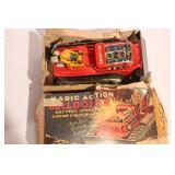 Vintage Tin Magic Action Bulldozer