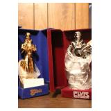 Elvis Silver Anniversary and Elvis Gold Decanters