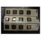 12 Postal Gold Stamp Replicas