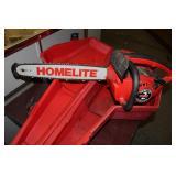 Homelite 16 Inch Chain Saw, Model 10654 W/ Case