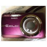 Casio Camera Exilim 14.1 Raspberry In Case