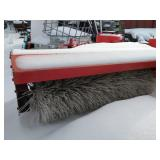 Snow attachment brushes