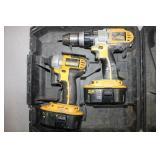 Cordless Dewalt Drill Set W/dcd950 Hammerdrill &