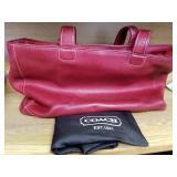 Vintage Leather Coach Purses, Set Of 2