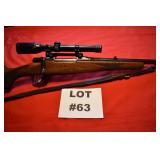 "63- CZ Bruno bolt action rifle, 308/280 Rem. 22"" octagon barrel"