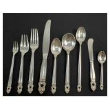 7 Sets of Sterling Silver Flatware