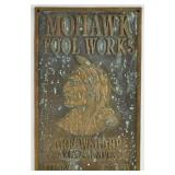 Mohawk Tool Works Brass Sign Axes