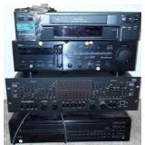 Vcr Player, Stereo Receiver, And Amplifier
