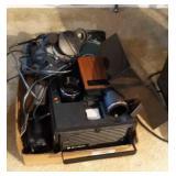 Vintage Projector And Cameras
