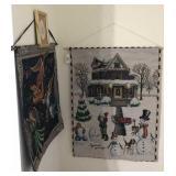 Christmas Fabric Wall Hangings
