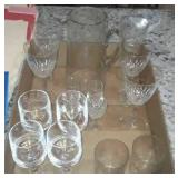 Glass Stemware And Pitcher