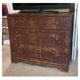 Distressed Wood Dresser