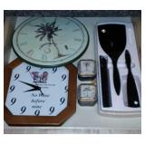 Wall Clocks And Hair Brush Set