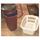 Trash Bins And Laundry Basket