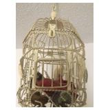 Bird Cage With Faux Birds