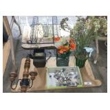 Artificial Flowers, Gemstones, Candle Holders
