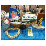 Wicker Items, Hangers, Wood Decor Etc...